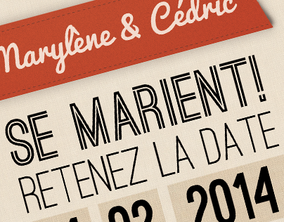 Carte postale : Save the date