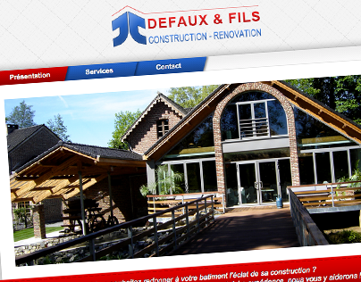 Site web : Defaux construction rénovation
